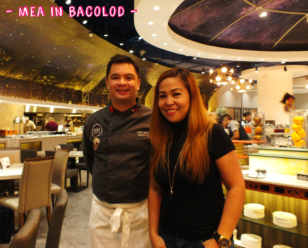 L-R: Exec. Corporate Chef of Vikings for Mindanao and the Visayas, Chef Anton Abad with Ms Raquel Bartolome, Senior Manager.