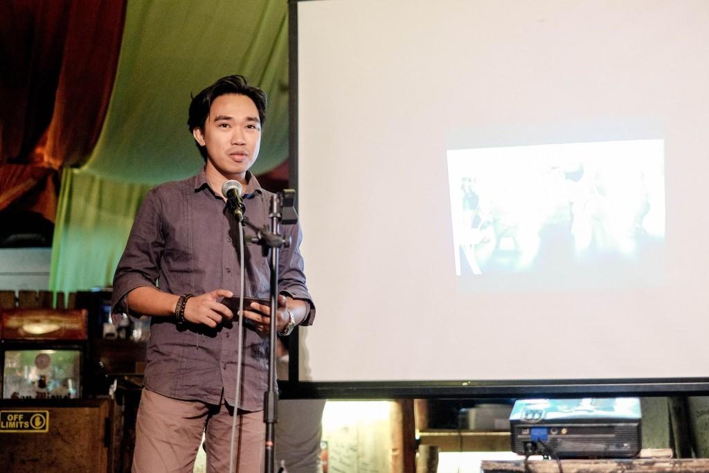 Hajee talking about his work as an app developer.