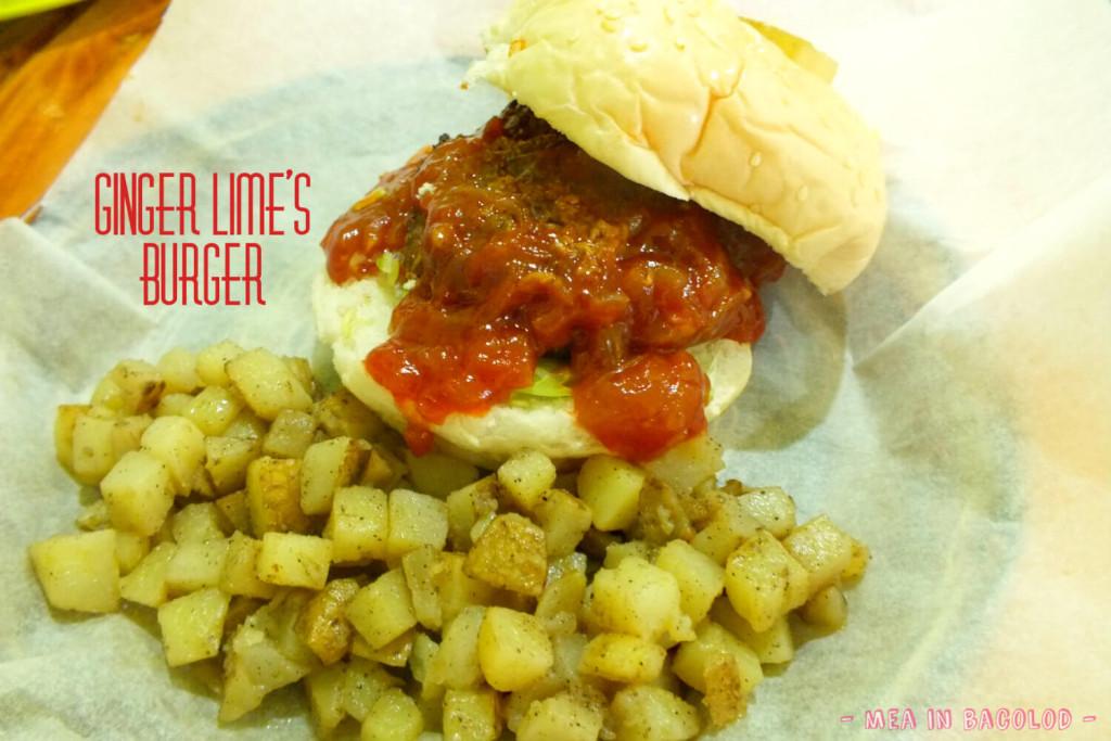 Ginger Lime Bacolod Menu - Burger