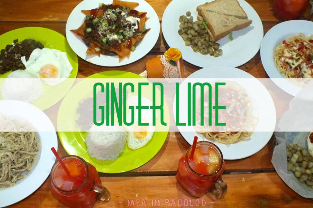 Ginger Lime Bacolod Menu - Cover