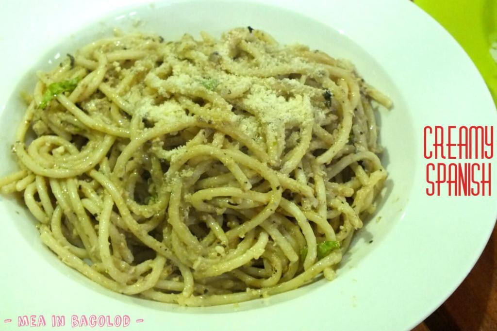 Ginger Lime Bacolod Menu - Creamy Spanish Pasta