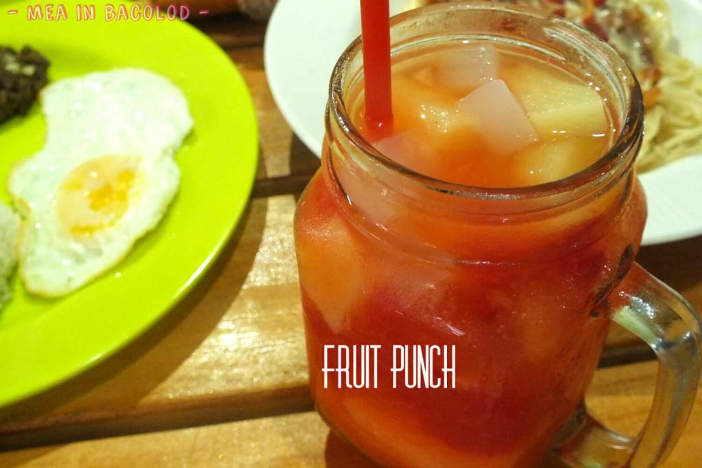 Ginger Lime Bacolod Menu - Fruit Punch