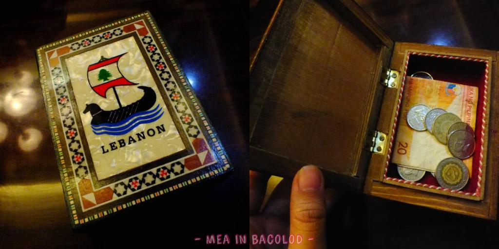 Kabbara Cafe Bacolod - Change box