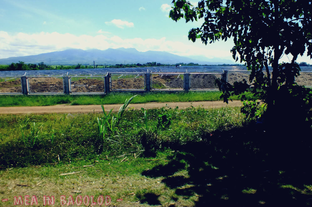 Solar panels in San Carlos, Negros Occidental.