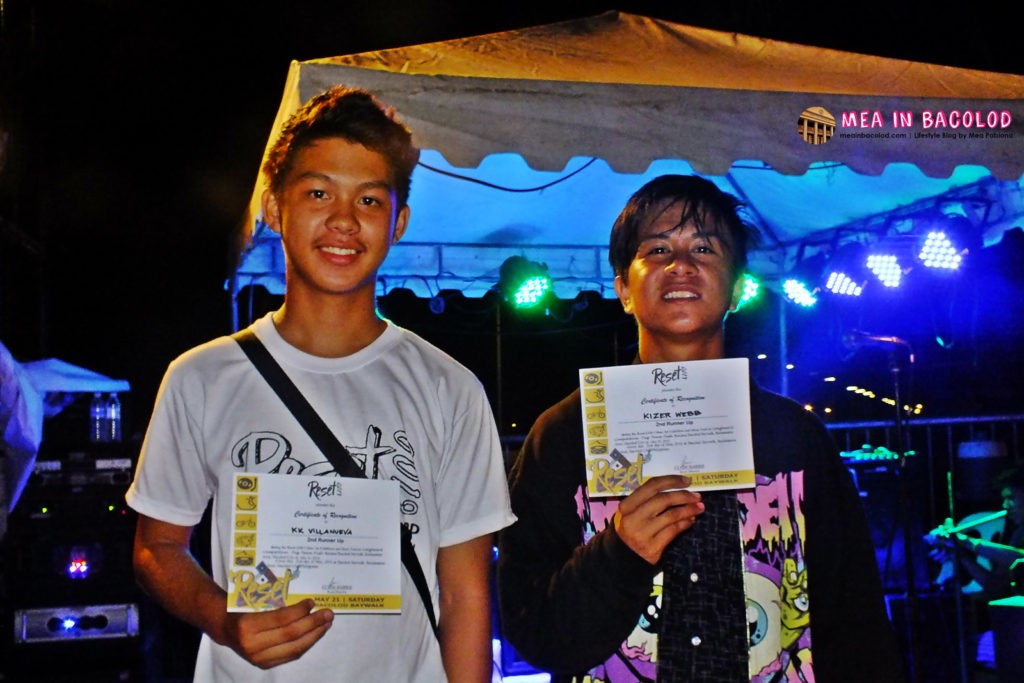 Bestfriends KK and Kaizer, Long-board competition winners.