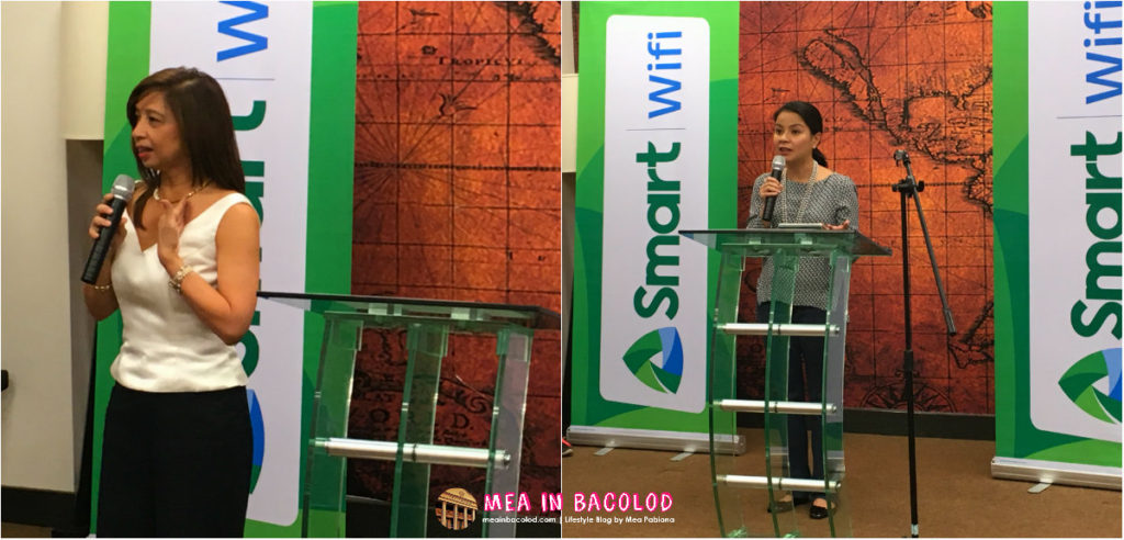 Ina Pineda, head of Smart Wi-Fi Communications and Fenina Gorres, VP and Head of Enterprise Customer Operations