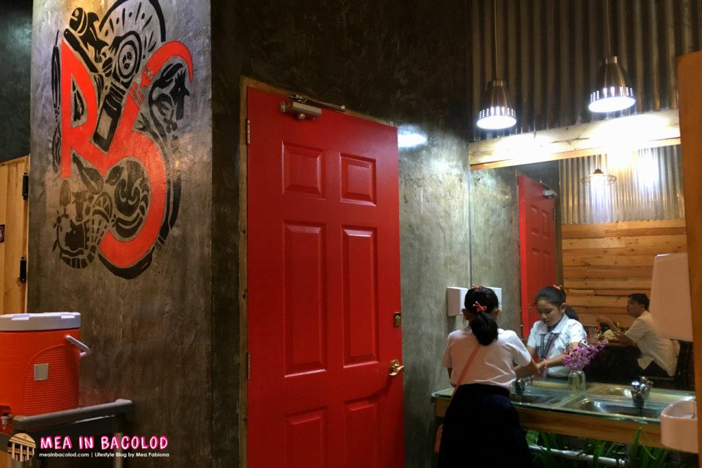 Ribshack Interior | Restroom Behind Red Door