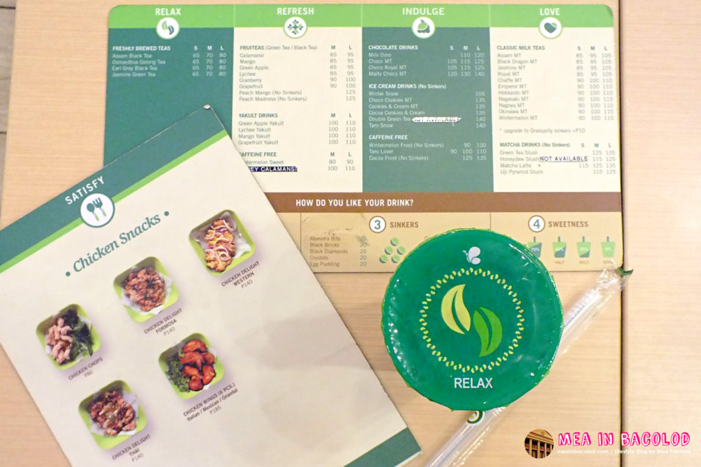The Menus at Serenitea
